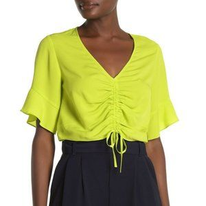 Rachel Roy Short Sleeve Stacey Front Ruched Top 37